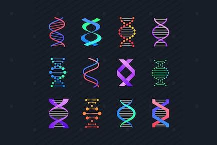 DNA molecule - line design style elements