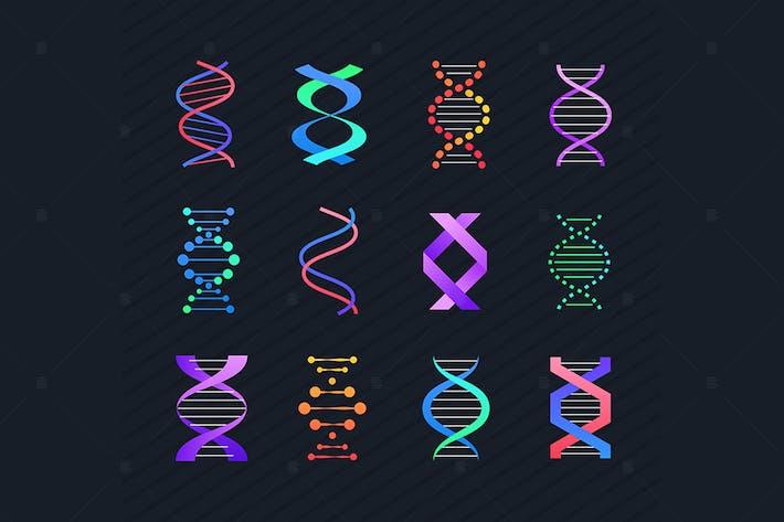 Thumbnail for DNA molecule - line design style elements