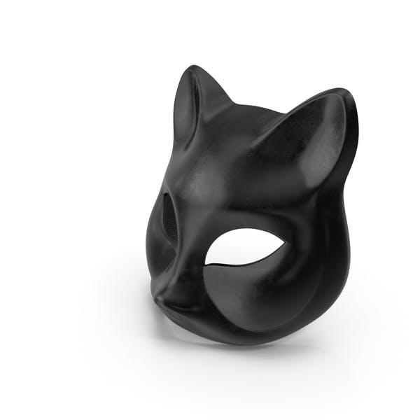 Черная маска для кошек