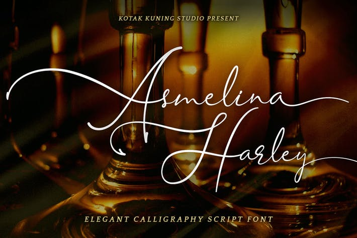 Thumbnail for Asmelina Harley - Fuente de escritura elegante