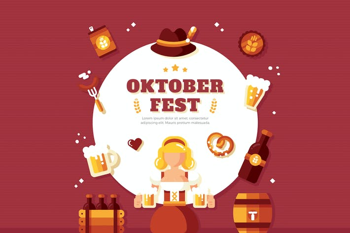 Thumbnail for Oktoberfest Background Illustration