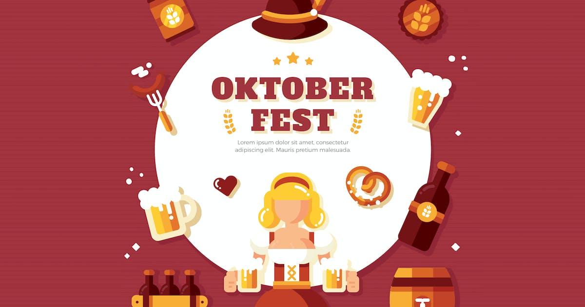 Download Oktoberfest Background Illustration by vynetta