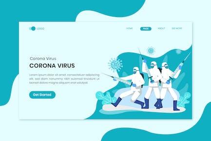 Fight The Virus Coronavirus  Flat Concept