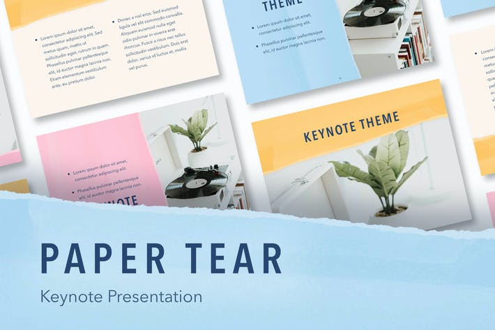 Thumbnail for Paper Tear Keynote Template