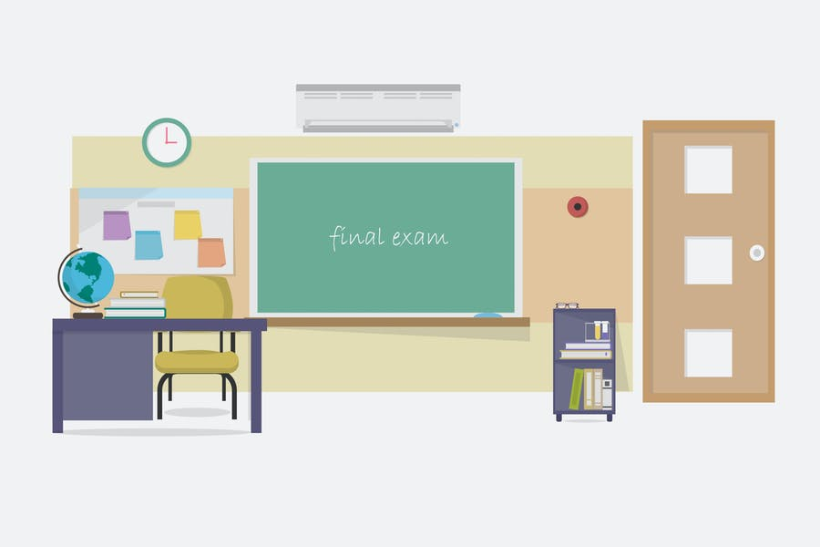 Class Room - Illustration Background
