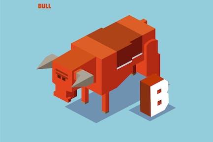 B for Bull, Animal Alphabet