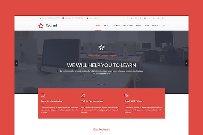 Thumbnail for Coursat – Awesome Course PSD Template