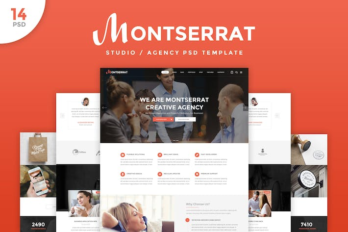 Thumbnail for Montserrat - Agency PSD Template