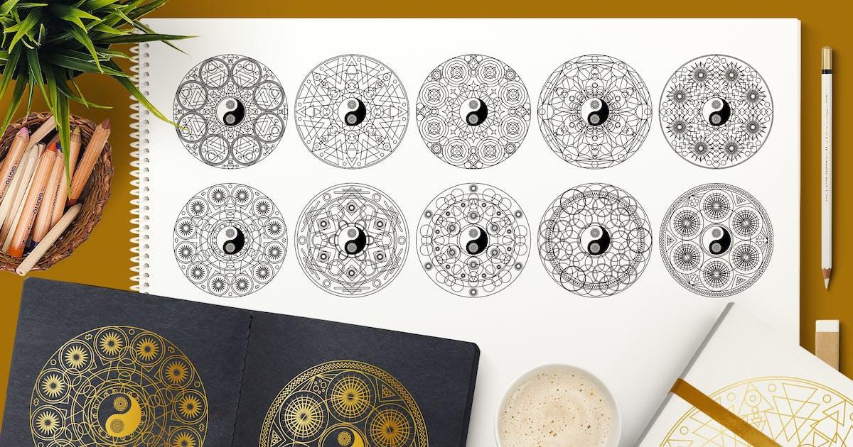 Download Meditation Mandala Symbols Set by barsrsind