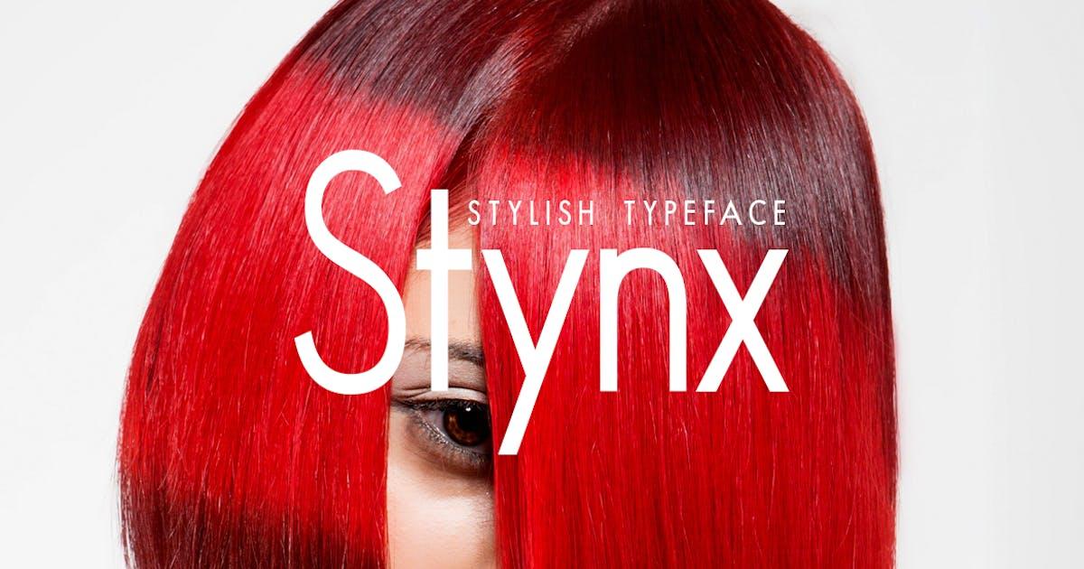 Download STYNX - Stylish Fashion / Display Typeface by designova