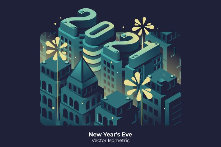 Thumbnail for New Year's Eve - Vector Illustration