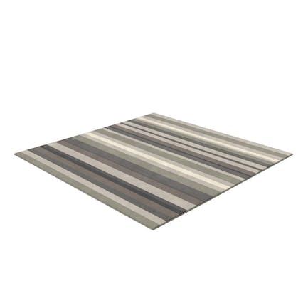 Серый полосатый коврик