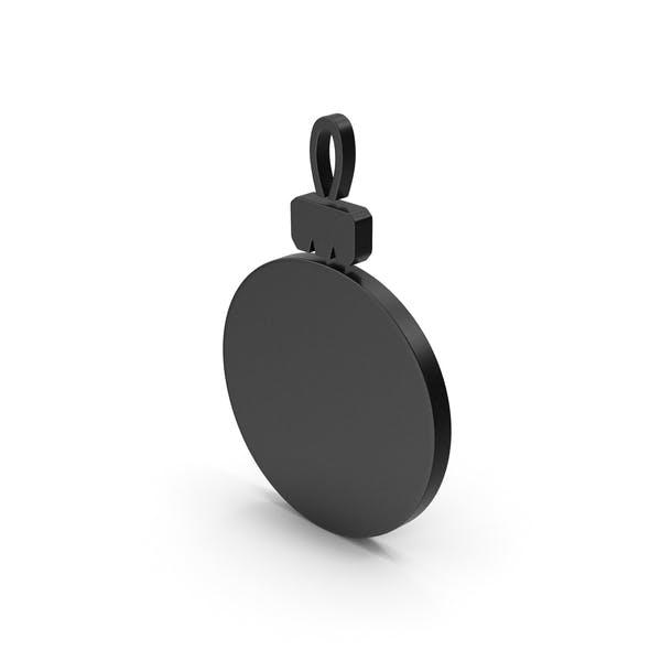 Черный символ Рождественский орнамент
