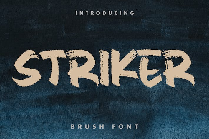 Thumbnail for Striker | Brush Font