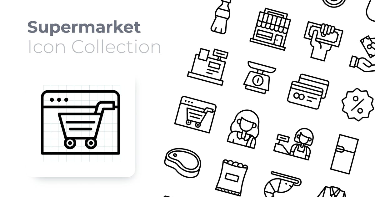 Download Supermarket Outline Icon by GoodWare_Std