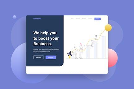 Progress Review Graphic Chart Website Header