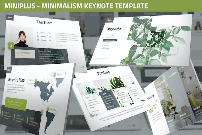 Thumbnail for MiniPlus - Minimalism Keynote Template