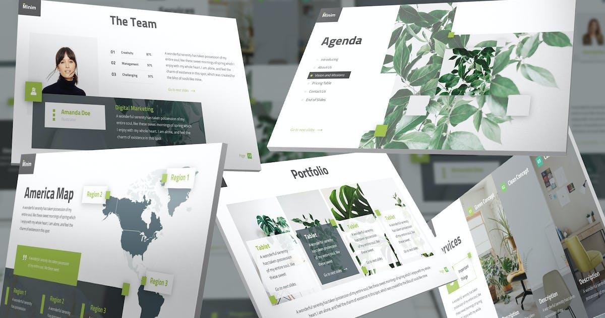 Download MiniPlus - Minimalism Keynote Template by SlideFactory