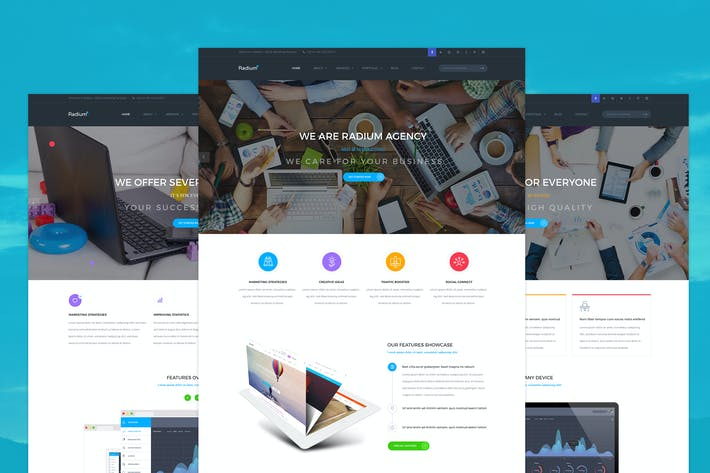 Thumbnail for Radium - Creative Landing Page PSD Template