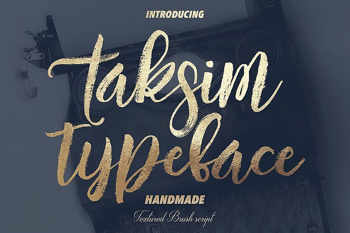 Thumbnail for Taksim Brush Font