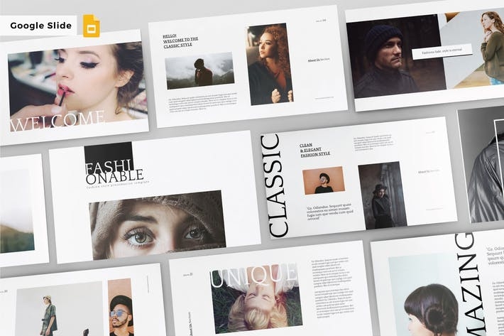Thumbnail for FASHIONABLE - Google Slide Template V145