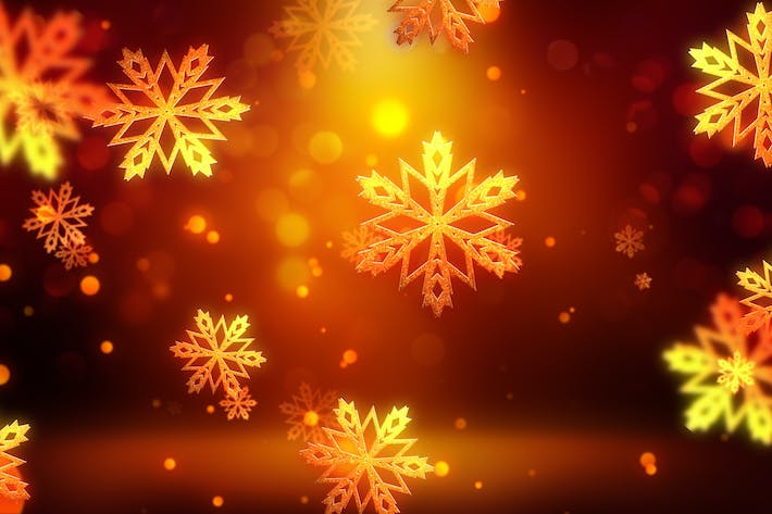 Thumbnail for Christmas Gold Snowflakes 1