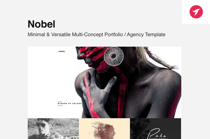 Thumbnail for Nobel - Minimal & Versatile Multi-Concept Template