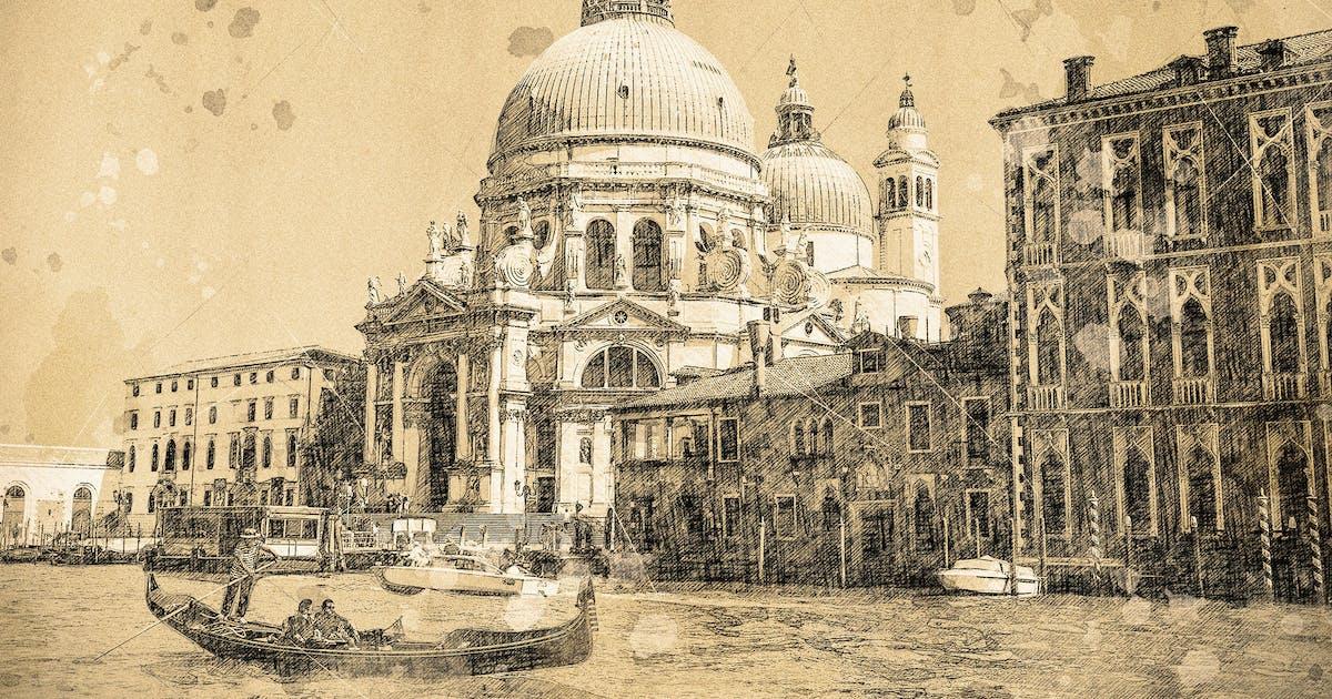 Download Vintage Sketch Photoshop Action by IndWorks
