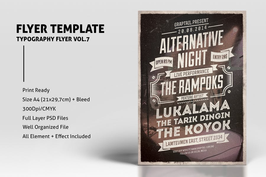 Typography Flyer Vol.7