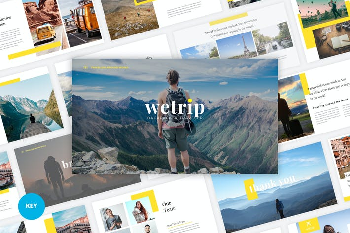 Thumbnail for Wetrip - Backpackers Keynote Template
