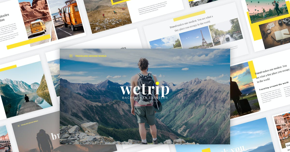 Download Wetrip - Backpackers Keynote Template by Graphiqa