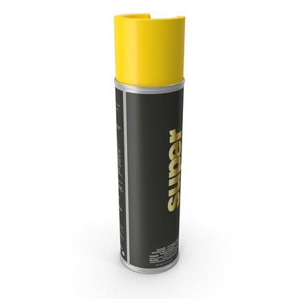 Аэрозольная желтая дорожная чередочная краска