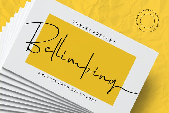 Thumbnail for Bellimbing | A Beauty Hand-Drawn Font