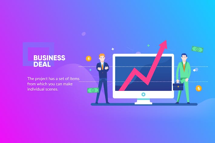 Thumbnail for Business Deal Banner & Landing Page