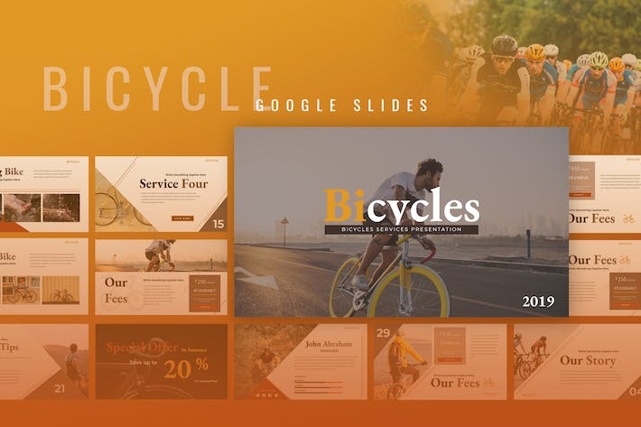Thumbnail for Bicycle Services Google Slides Presentation