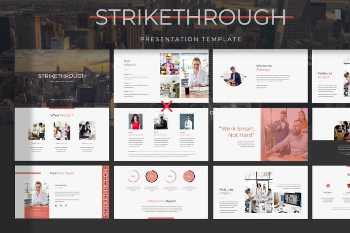 STRIKETHROUGH - Google Slide Presentation Template
