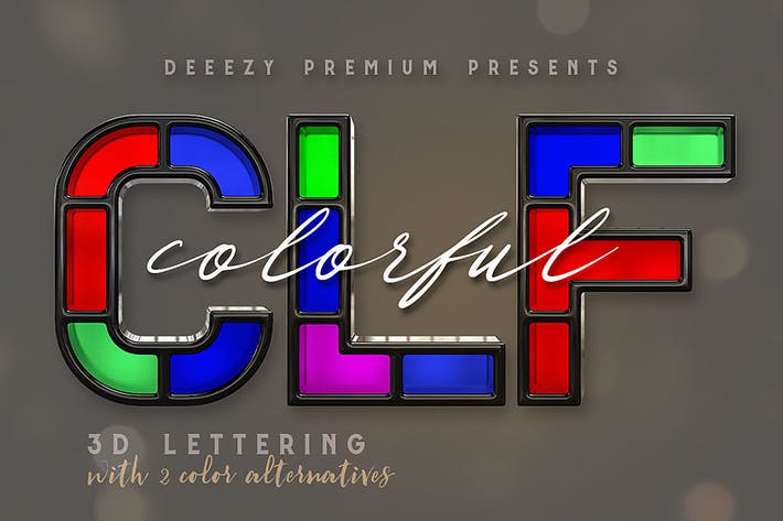 Thumbnail for Colorful – 3D Lettering