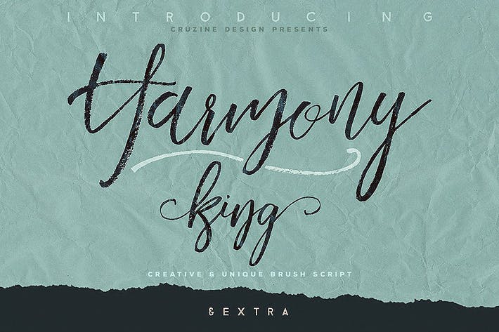 Thumbnail for Harmony King - Brush Font