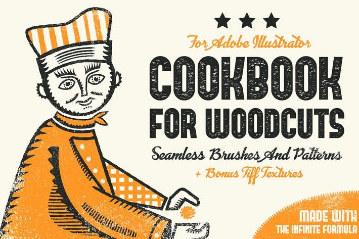 Thumbnail for Cookbook for Woodcuts - brushes and patterns