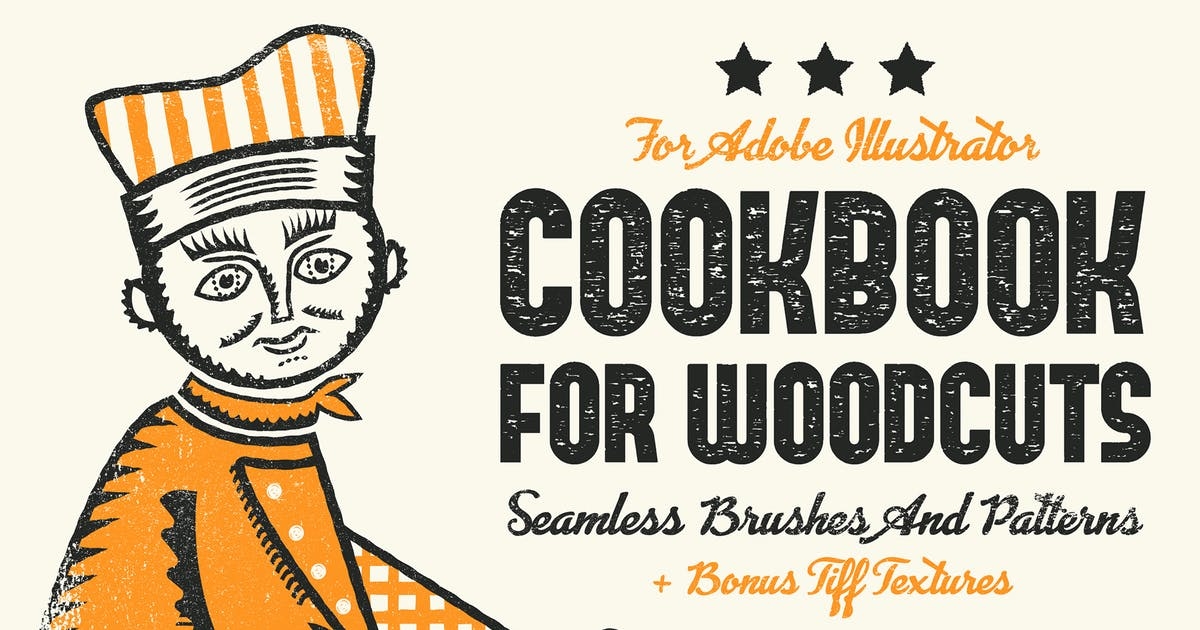 Download Cookbook for Woodcuts - brushes and patterns by guerillacraft