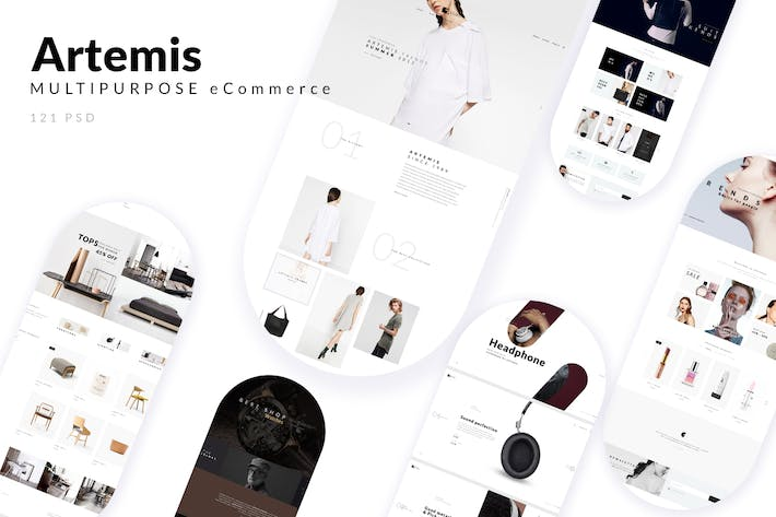 Cover Image For ARTEMIS - Multipurpose eCommerce PSD Template