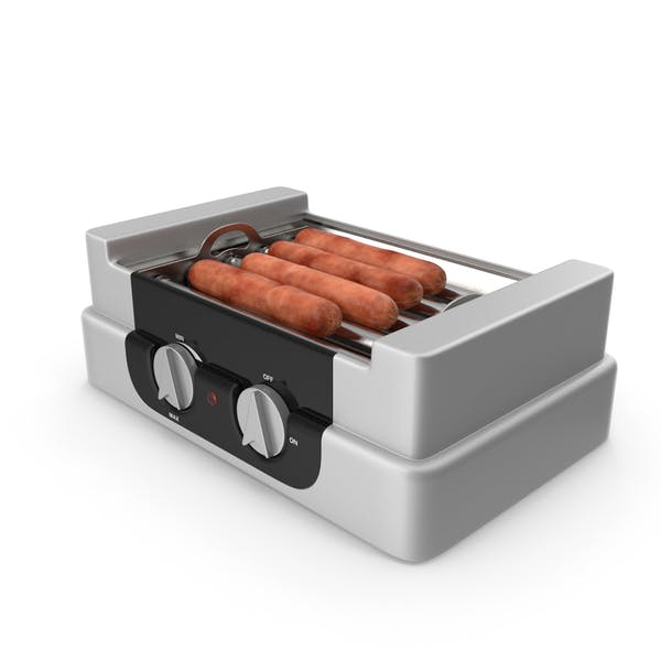 Electric Rolling Hotdog Machine with Sausages