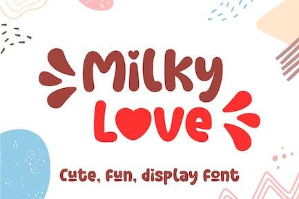 Milky Love Mignon Logo Police