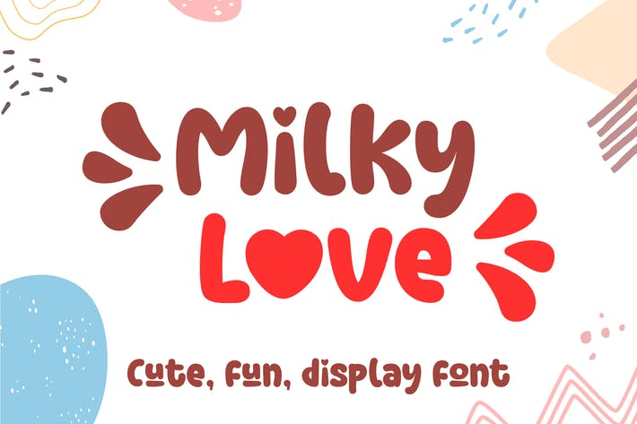 Thumbnail for Milky Love Cute Logo Font