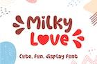 Milky Love Cute Logo Font