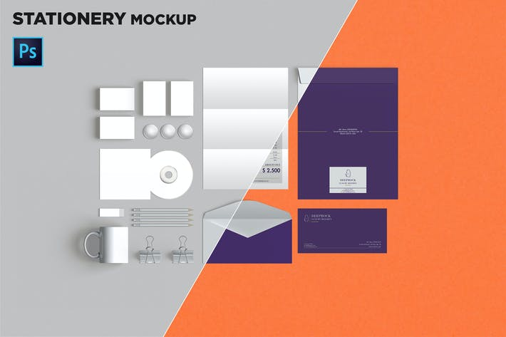 Thumbnail for Brand Identity / Stationery Mockup 01