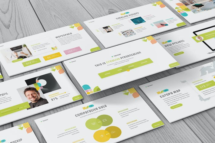 Thumbnail for Twister - Geometric Powerpoint Template