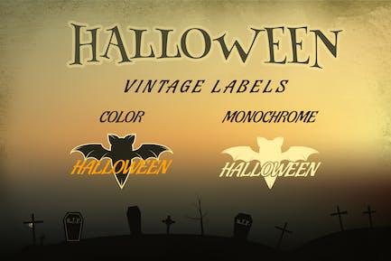 Halloween Vintage Labels / Holiday Logo & Identity