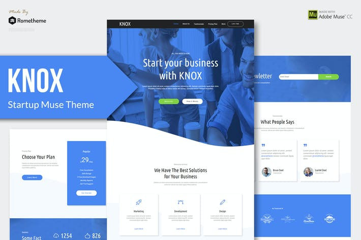 Thumbnail for KNOX - Startup, Agency, Apps Muse Theme
