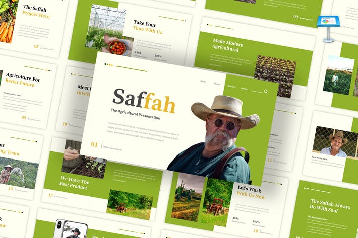 Saffah - Agricultural Keynote Template